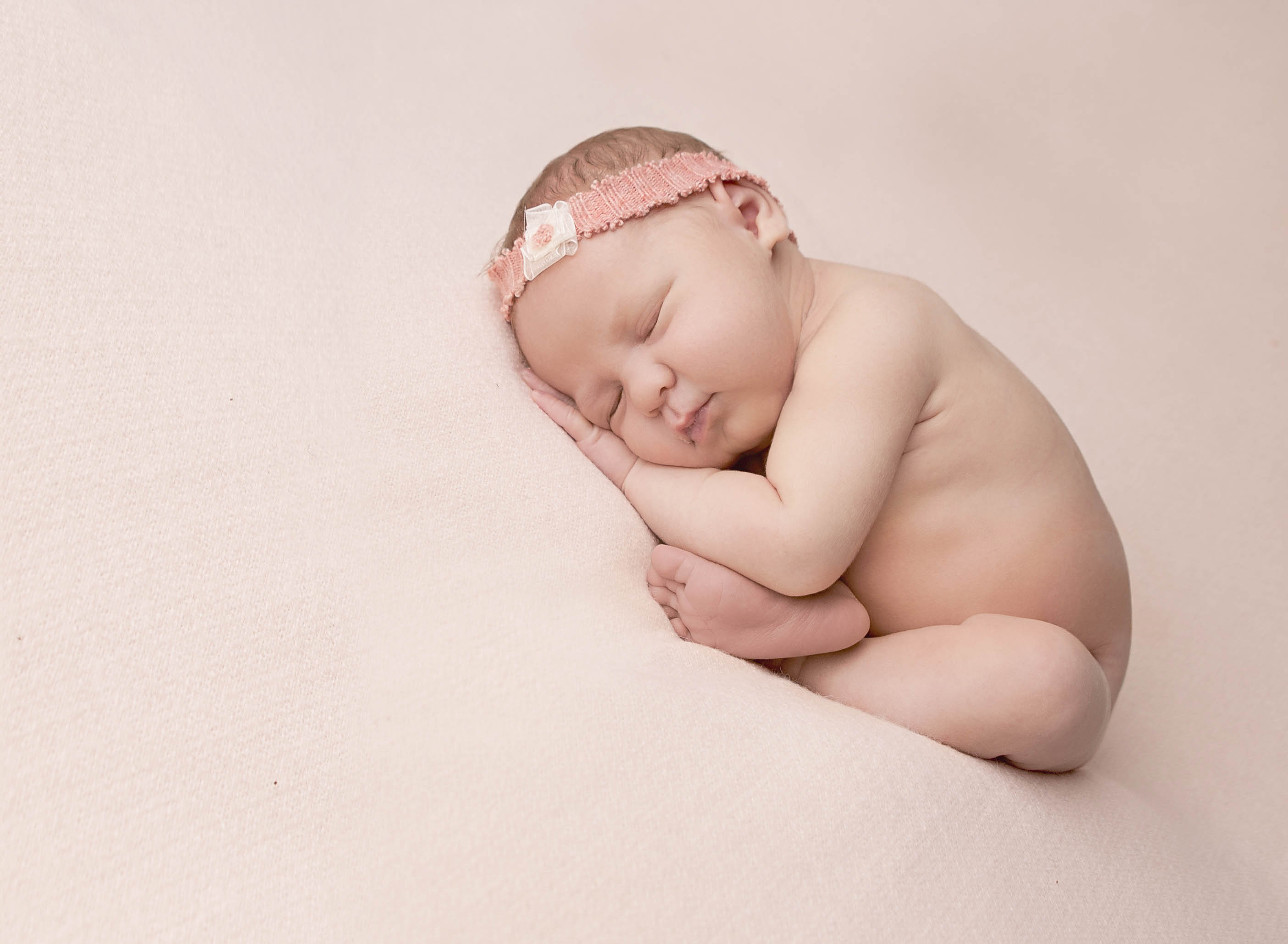 baby newborn photo pink tieback comox