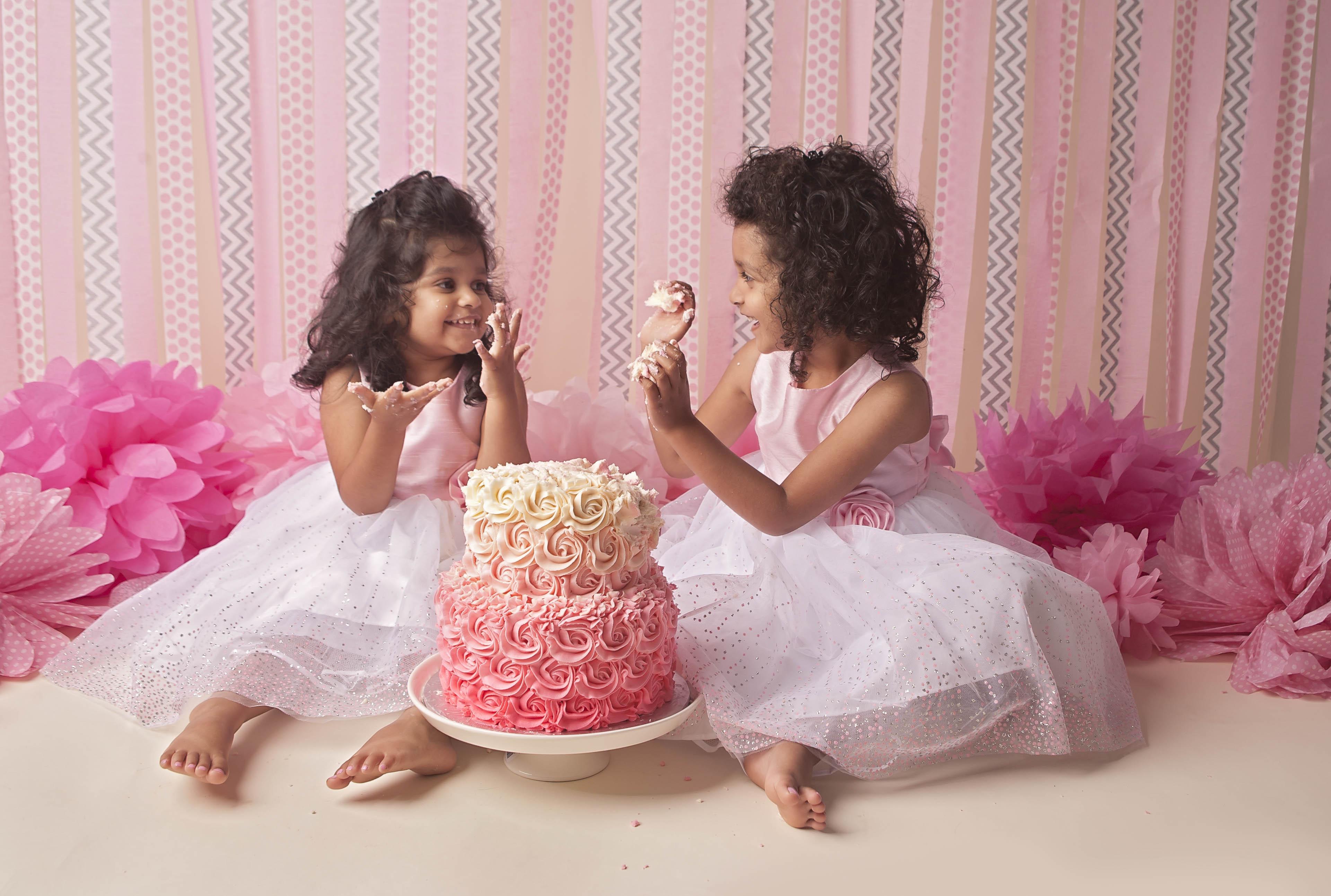 older child cake smash photo