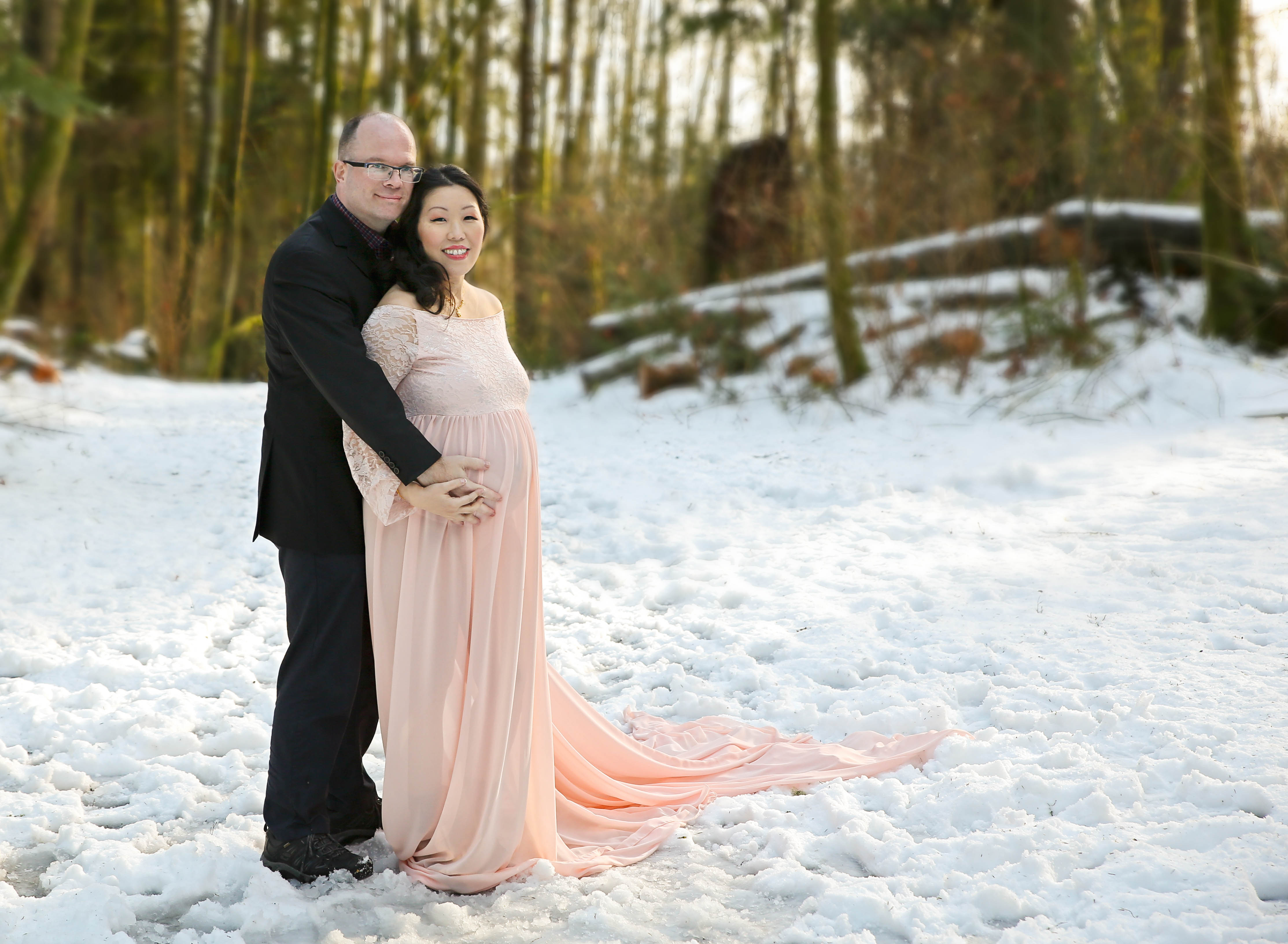 winter maternity session comox valley